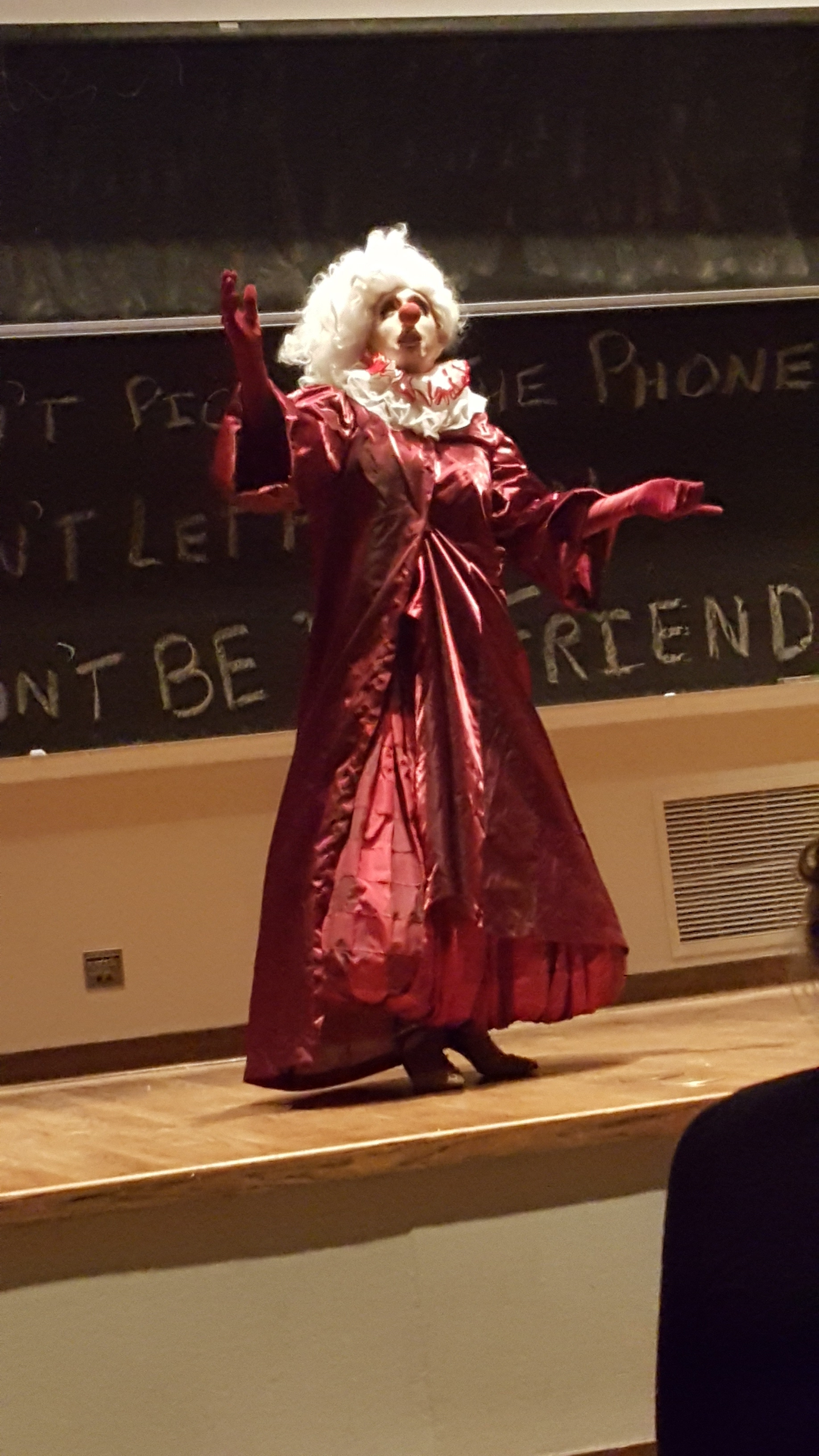 SADHAUS drag performer takes the stage at Fisk Hall.
