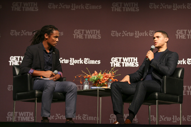 John Eligon interviews Trevor Noah in Cahn, as part of a New York Times discussion series.