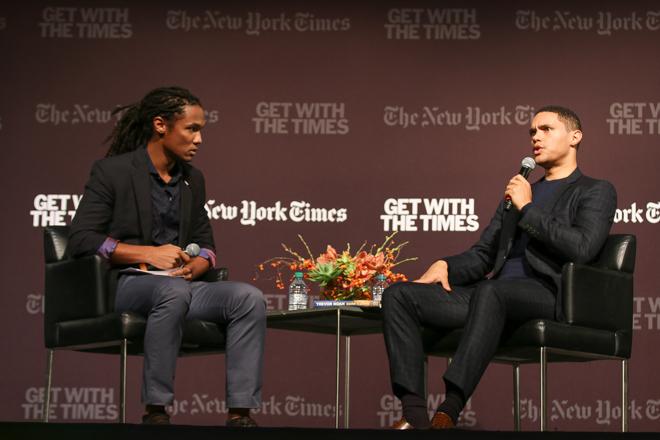 John Eligon interviews Trevor Noah in Cahn, as part of a New York Times discussion series.
